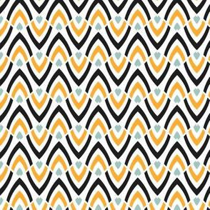 Wavy ethnic pattern
