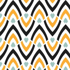 Wavy ethnic pattern: large-scale