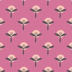 Retro Flower Summer Garden pink