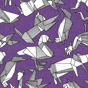 origami animal ditsy purple