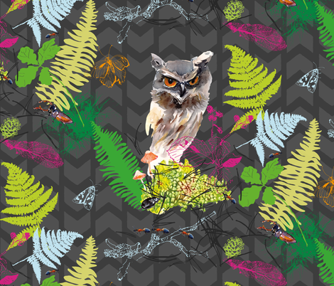 Forest secret fabric by freudenwerkstatt on Spoonflower - custom fabric