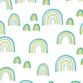 Sweet green dreams rainbow sky love abstract trendy rainbows boys