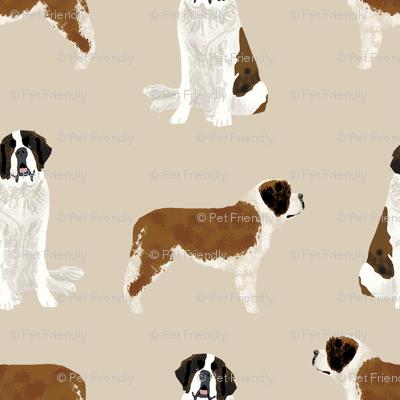 saint bernard simple dog breed pure breed fabric tan