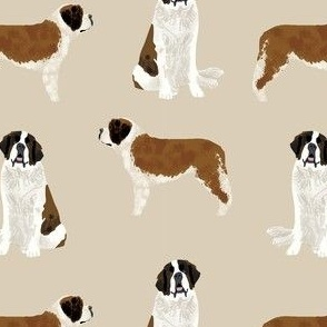 saint bernard simple dog breed pure breed fabric tan