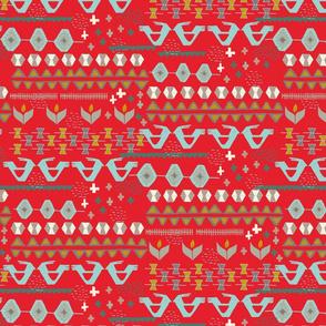 Kilim in red