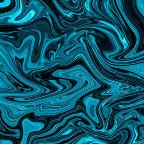 Shiny blue chromatic silk