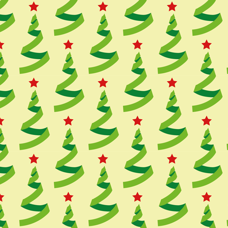 Christmas trees - geometric fabric by aliceelettrica on Spoonflower - custom fabric