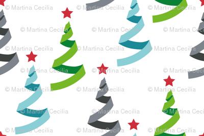 Christmas tree - merry xmas - geometric