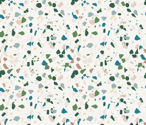 terrazzo fabric by holli_zollinger on Spoonflower - custom fabric
