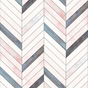 Blush Herringbone Wood