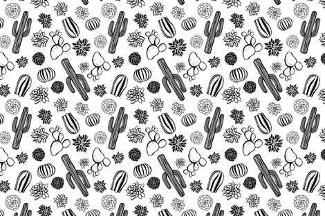 Cactus Fabric 3 fabric by northeighty on Spoonflower - custom fabric