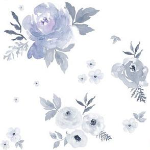 "8"" Sweet Blush Roses - Lilac Tint"