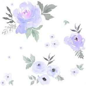 "8"" Sweet Blush Roses - Lilac"