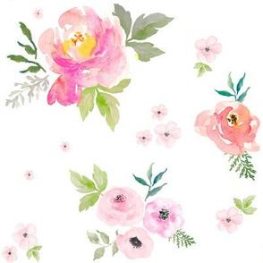 """8"""" Sweet Blush Roses - Vibrant"""