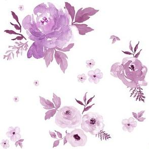 """8"""" Sweet Blush Roses - Violet"""