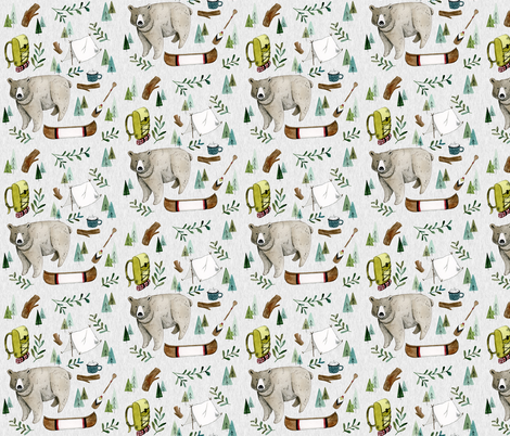 Camping Adventure fabric by little_pine_artistry on Spoonflower - custom fabric