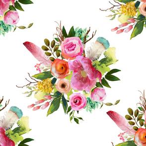 "42""x36"" Summer Teepee Florals"