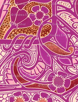 Magenta With a Flowery Twist