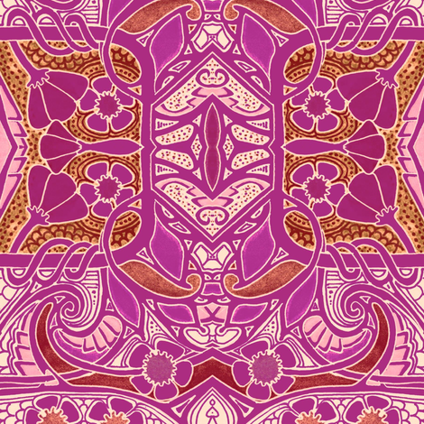 Magenta With a Flowery Twist fabric by edsel2084 on Spoonflower - custom fabric