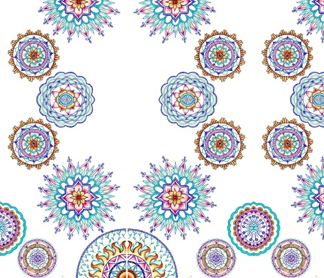 mandala fabric by stefania__l on Spoonflower - custom fabric