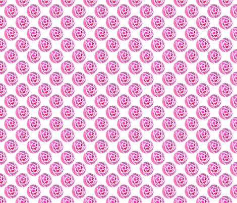 Pink roses macintosh fabric by e1ena on Spoonflower - custom fabric
