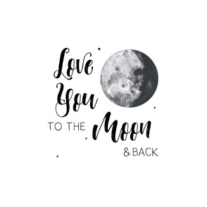 "18""x42"" Moon and Back Print"