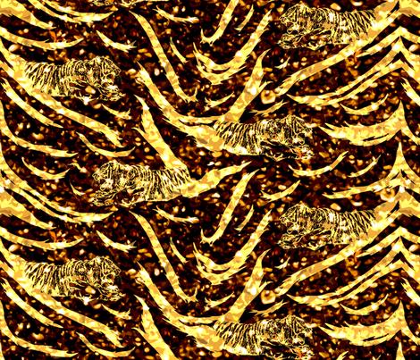Tribal Tiger stripes print - New Years fireworks medium fabric by rusticcorgi on Spoonflower - custom fabric
