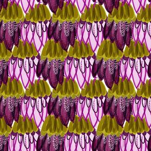 sparkle mermaid scales // pink + purple