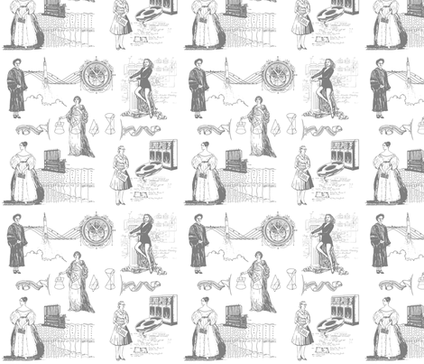 Women of Computer Science - small gray fabric by elramsay on Spoonflower - custom fabric