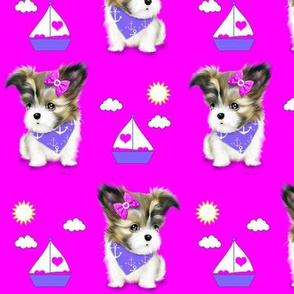 Mi-ki puppy Nautical Magenta M