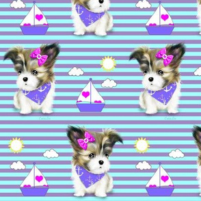 Mi-ki puppy Nautical purple M