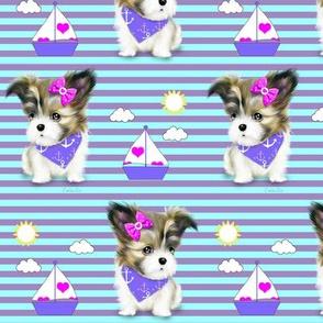 Mi-ki puppy Nautical purple M