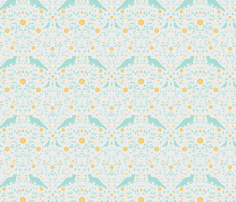 floral forest_pinemarten fabric by krista_power on Spoonflower - custom fabric