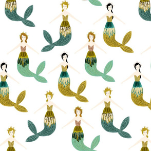 sparkle mermaids // citrus + teal