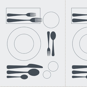 placemat formal tablesetting_grey on duck egg