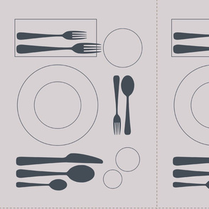 placemat formal tablesetting_grey on silver