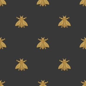 Napoleonic Bees ~ Faux Gilt on Cendre