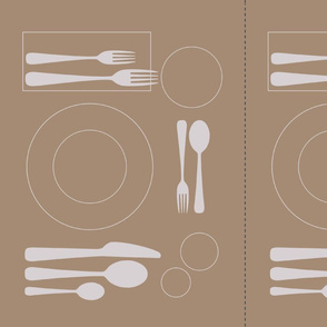 placemat very formal dining_silver on cardboard