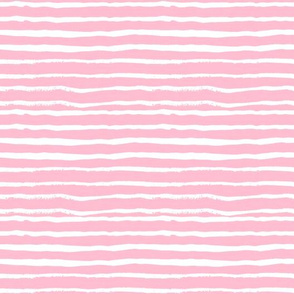 pink stripes fabric baby girl nursery