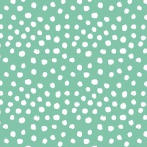 green dots fabric nursery baby design