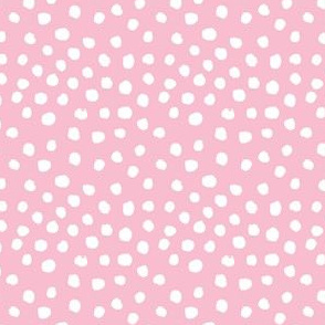 pink dots fabric nursery baby girl design