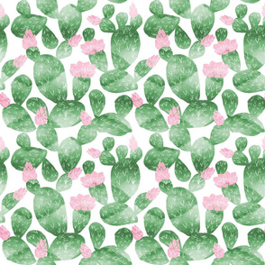 cactus - watercolor palm springs watercolor tropical nursery fabric