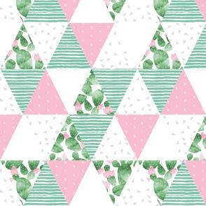 cactus triangle quilt