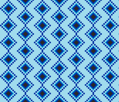 Kilim Evil Eyes fabric by tinypeach on Spoonflower - custom fabric
