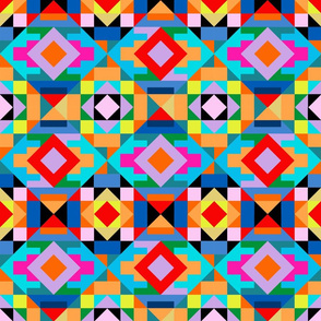Bold Pop Kilim Geometric