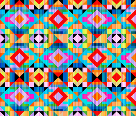 Modern Kilim Bright and Bold fabric by elramsay on Spoonflower - custom fabric