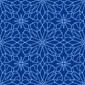 Geometric Lace - Lapis lazuli