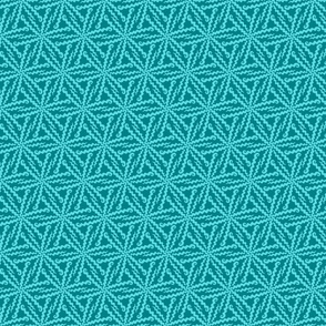 Squiggle Stars - aqua and teal geometric
