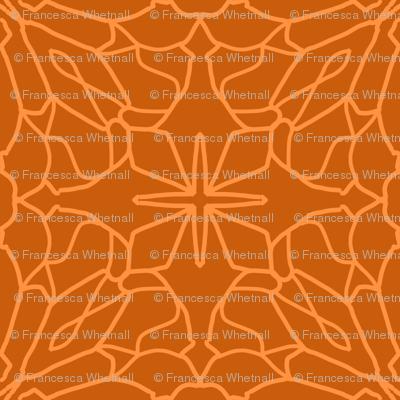 Geometric Lace - Tangerine