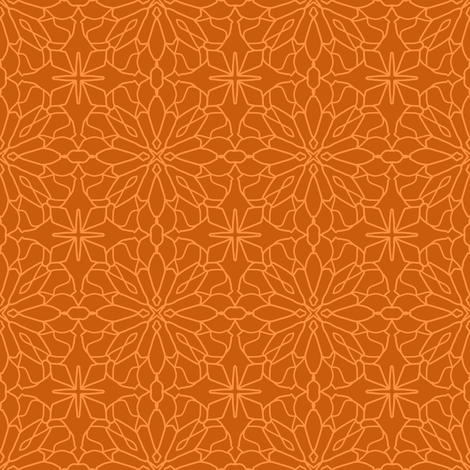 Geometric Lace - Tangerine fabric by cecca on Spoonflower - custom fabric